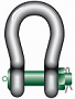 Bow shackle P-6036 c/w safety bolt tempered, heat treated steel, grade 8