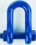 Dee shackle short type C c/w safety bolt and split pin A.6.C SAE 8620