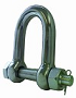 Dee shackle Type E c/w safety bolt stainless steel