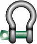 Bow shackle G-4161 c/w screw pin tempered, heat treated steel, grade 6